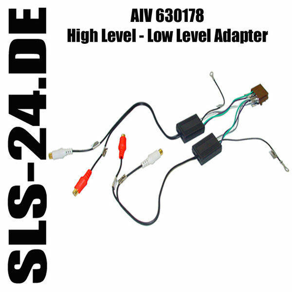 high level low lever autoradio adapter 4 kanal iso auf 4 x cinch aiv 630178 ebay. Black Bedroom Furniture Sets. Home Design Ideas
