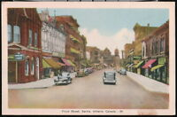 SARNIA ONTARIO CANADA Front Street Canadian Bank of Commerce Vintage Postcard