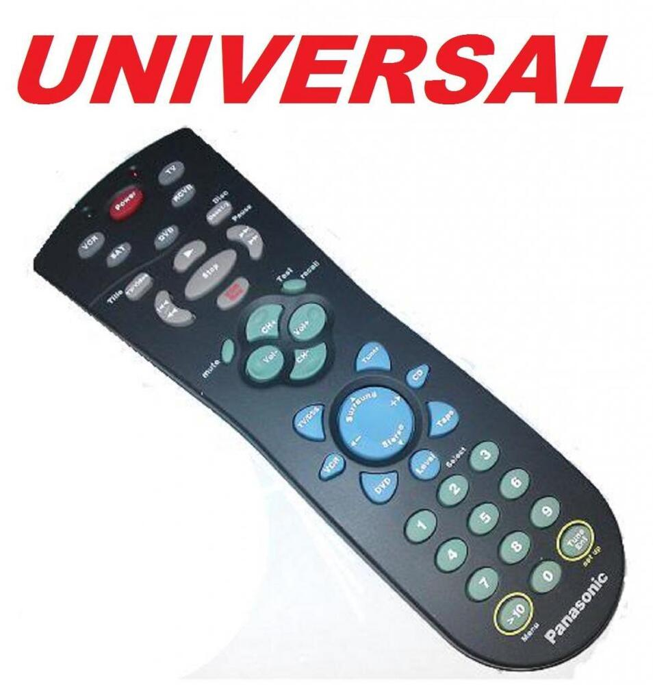 universal remote control 5 in 1 rca tv vcr dvd receiver philips samsung lg rca ebay. Black Bedroom Furniture Sets. Home Design Ideas