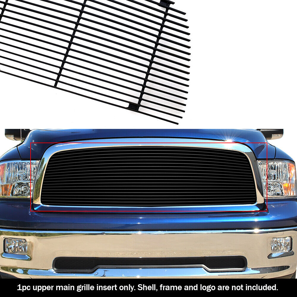 Ram 1500 Accessories >> Fits 2009-2012 Dodge Ram 1500 Pickup Black Billet Grille Grill Insert | eBay