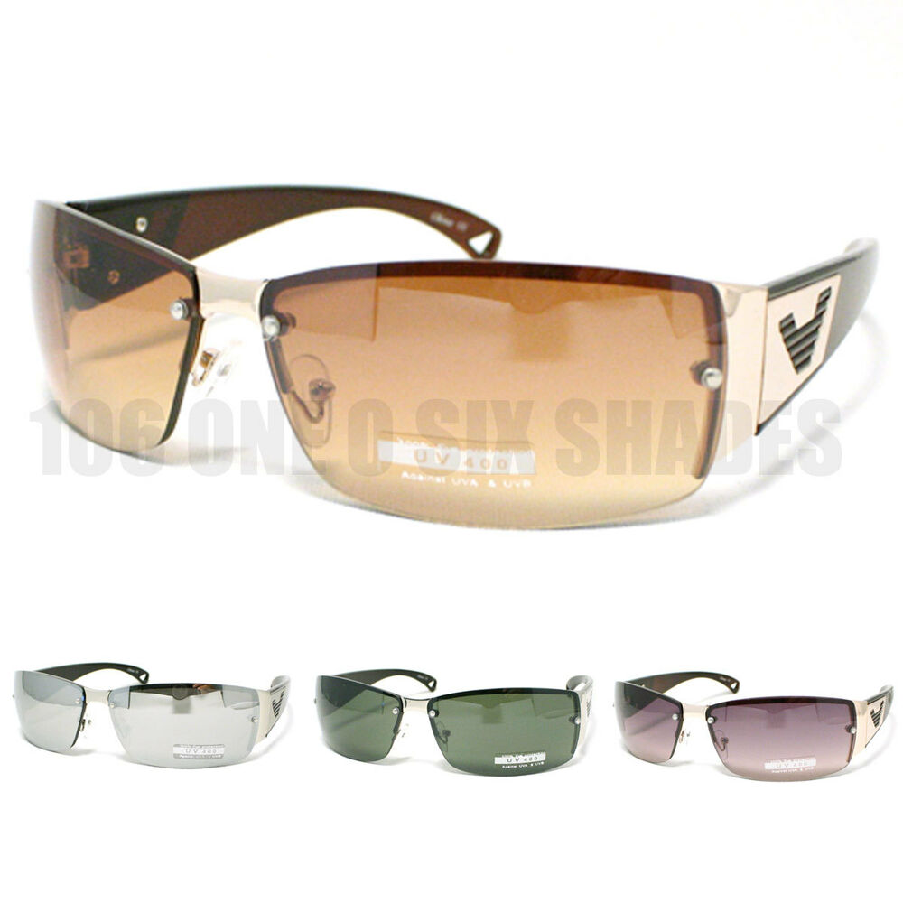 CLASSIC Designer Fashion Sunglasses Men Rimless Rectangular Lens