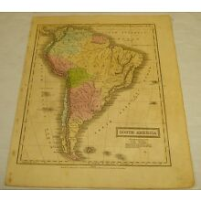 1831 Olney COLOR MAP of SOUTH AMERICA