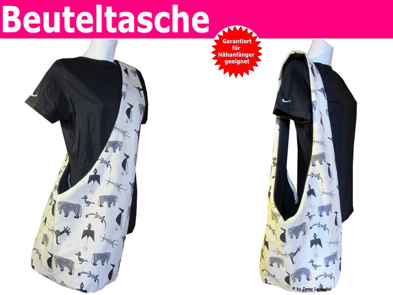 n hanleitung beuteltasche tasche n hen f r anf nger mit schnittmuster ebay. Black Bedroom Furniture Sets. Home Design Ideas