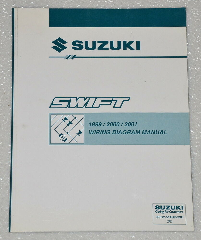 1999 2000 2001 Suzuki Swift Factory Electrical Wiring Diagrams Shop Manual Ga Gl