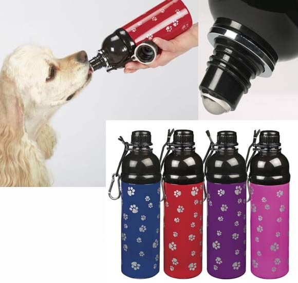 17 Oz Portable Travel Dog Water Bottle: Stainless Steel Dog Water Bottle Travel Hiking Pet