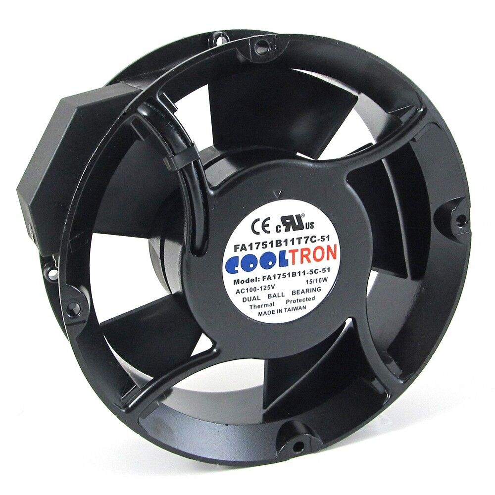 110v / 115v / 120 v ac cooling fan. Ø 170mm x 51mm ... 115v cooling fan wiring