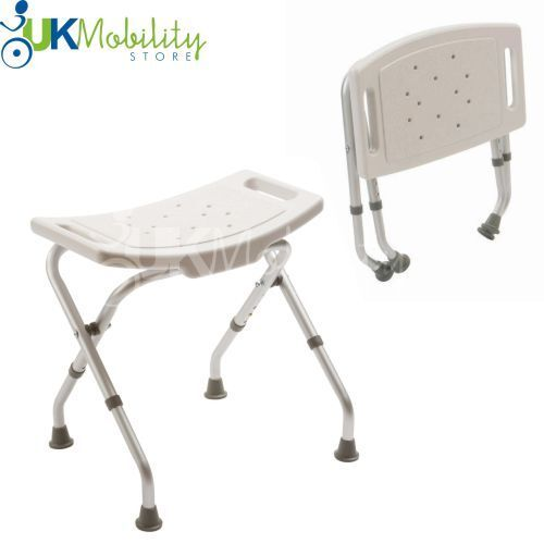 Folding Adjustable Height Bath Shower Seat Stool Bench EBay