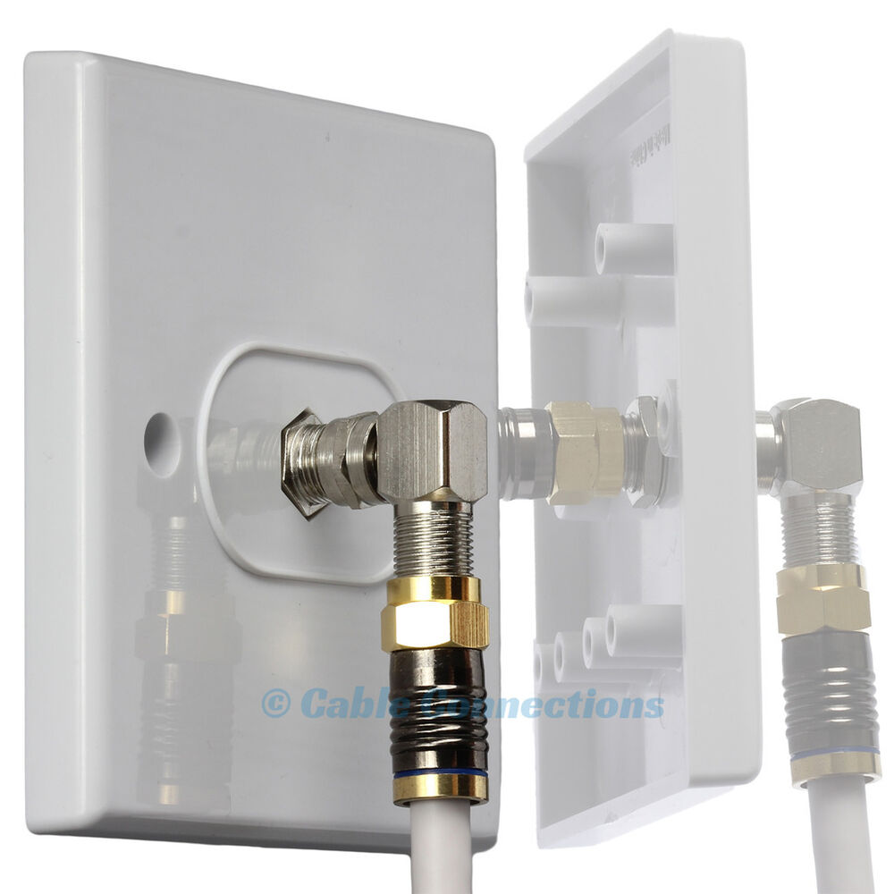 Direct Tv To Hdmi Wiring Diagram Library For Virgin Media F Connector Cable Coupler Socket Wall Face Plate Outlet Box Sky Ebay In