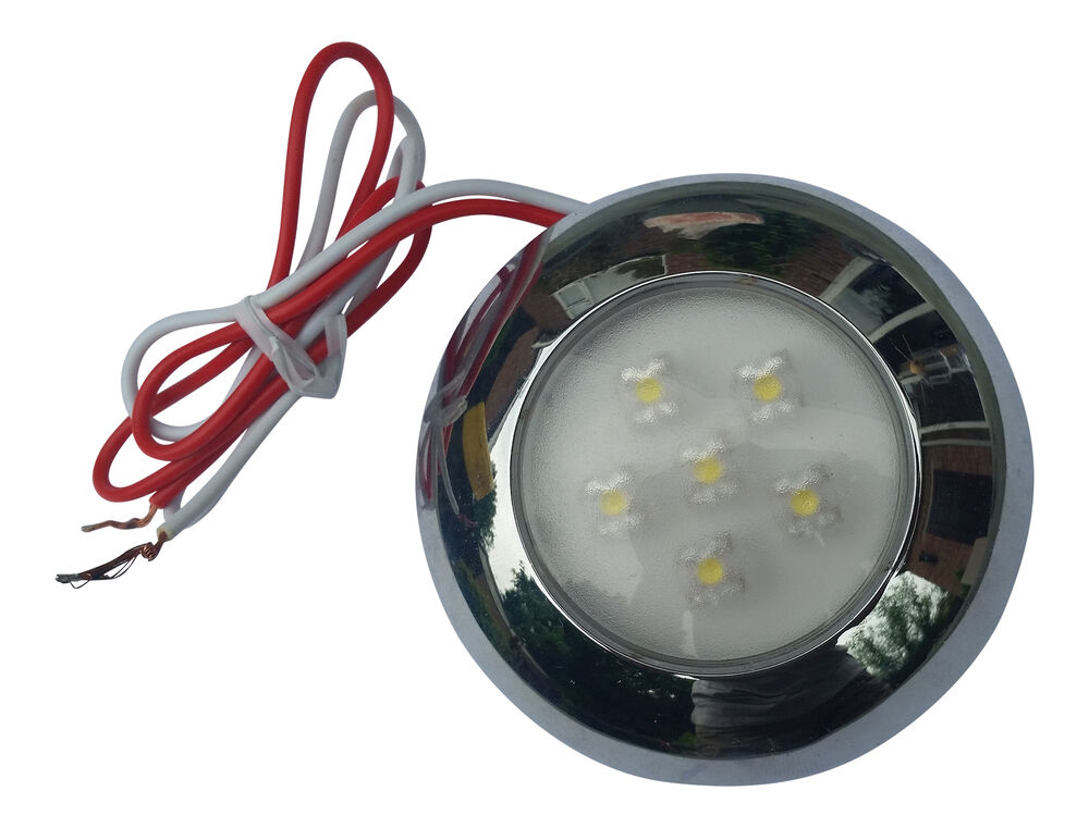 Boat Yacht 6 White Led Interior Exterior Waterproof Light 12v Or 24v Dc Ebay
