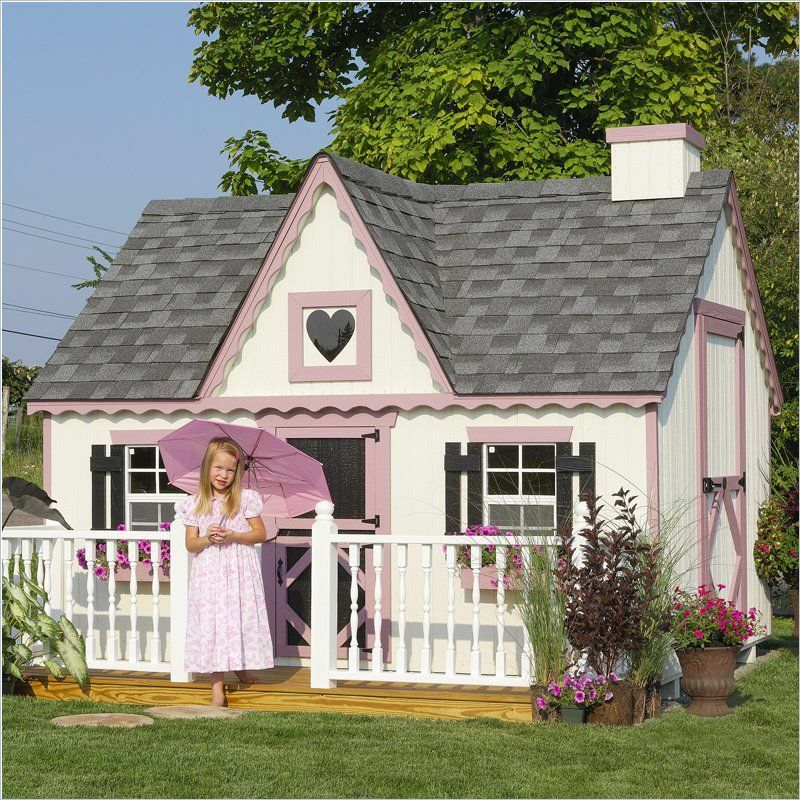 Little cottage company victorian 8 39 x8 39 childrens wood Victorian cottages kit homes