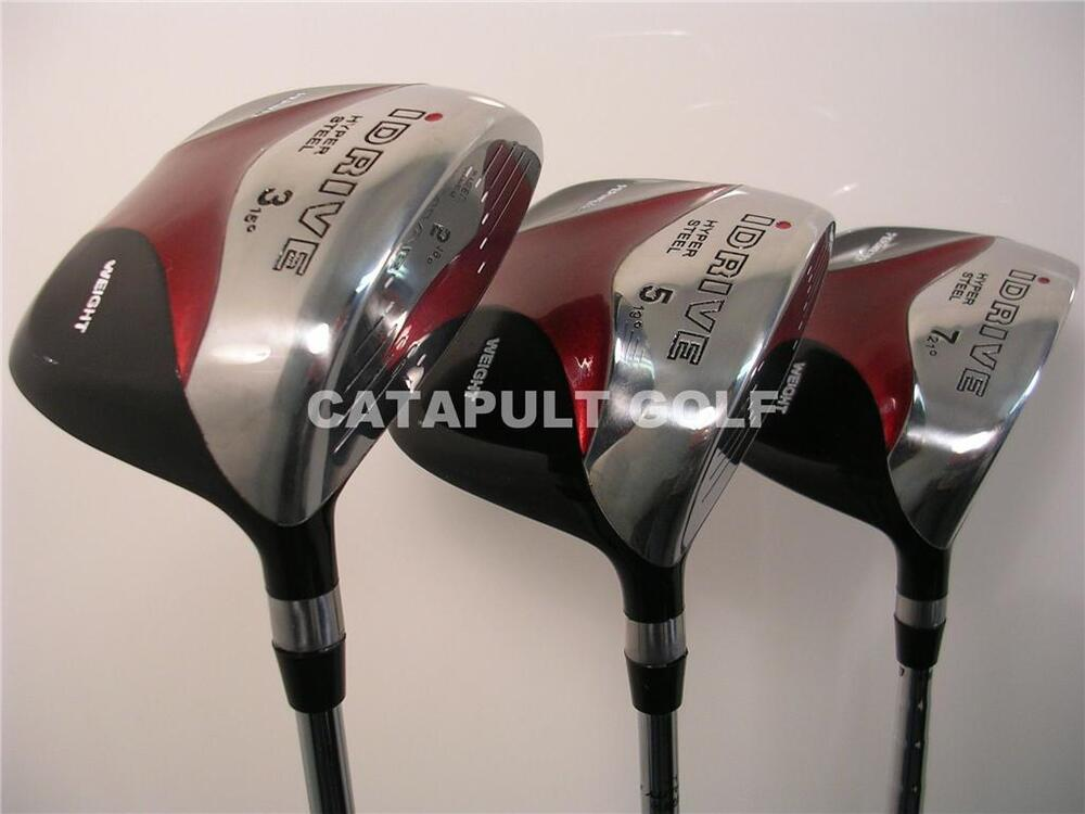 1 Xl Long Big Tall Left Handed Square Fairway Woods 3 5 7 Wood Lh Golf Clubs Ebay
