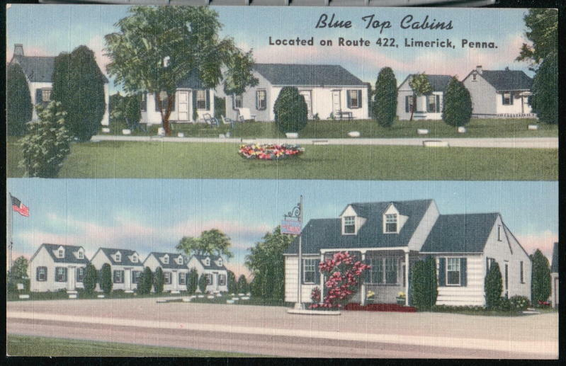 Limerick Pa Blue Top Cabins Vintage Roadside Motel