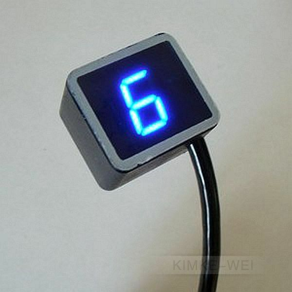 Digital Indicator Parts : Blue led universal digital gear indicator motorcycle