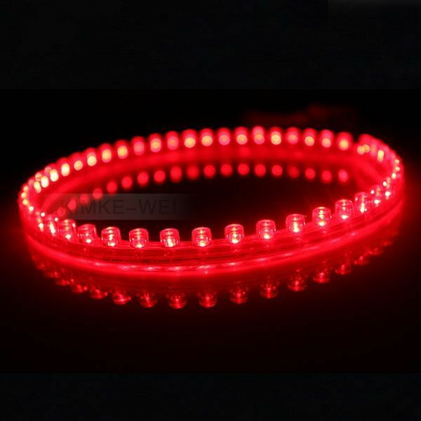 48cm red led flexible neon strip light car van 12v ebay - Neon led 12v ...