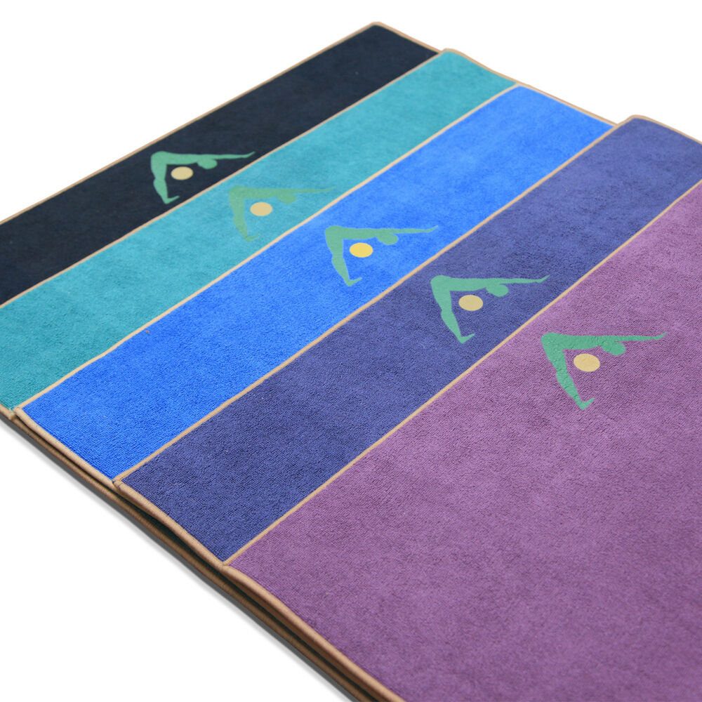 "Aurorae Yoga Towel / Mat, ""Synergy"" Patented 2 In 1 Slip"
