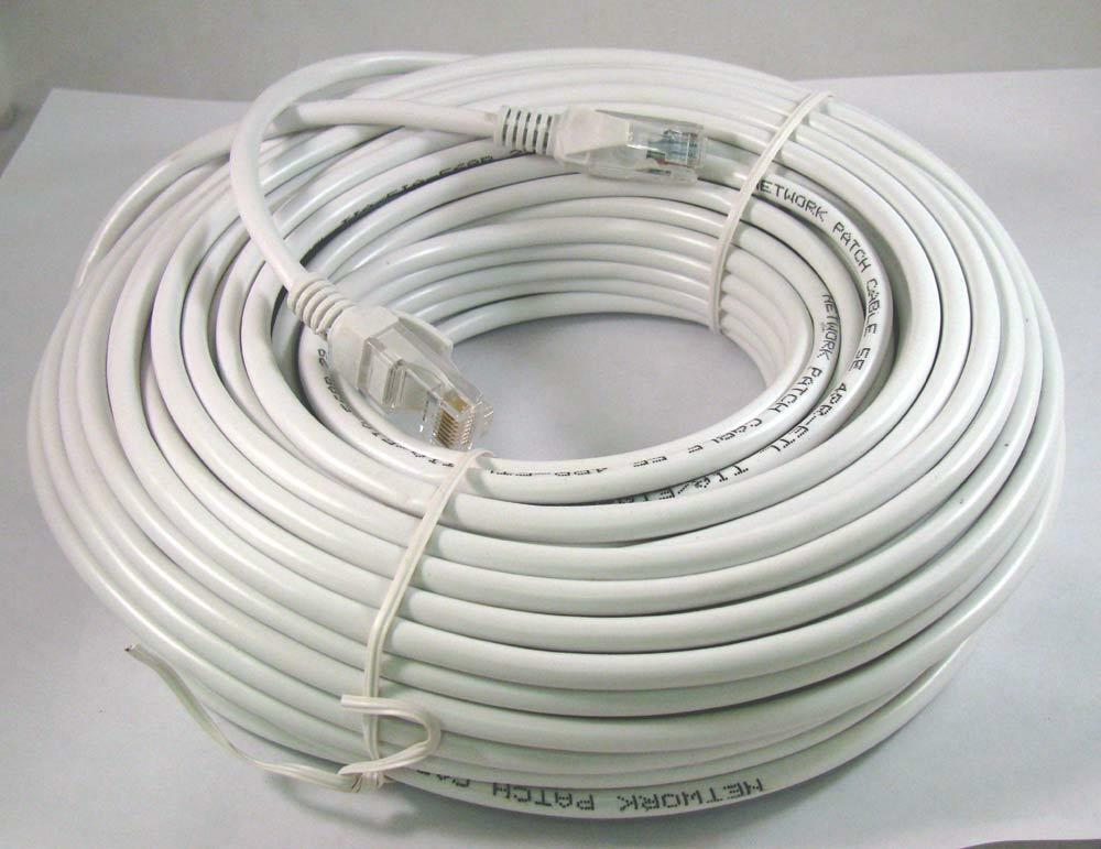 50ft 50 ft rj45 cat5 cat5e ethernet lan network cable white brand new 15m 873791003464 ebay. Black Bedroom Furniture Sets. Home Design Ideas