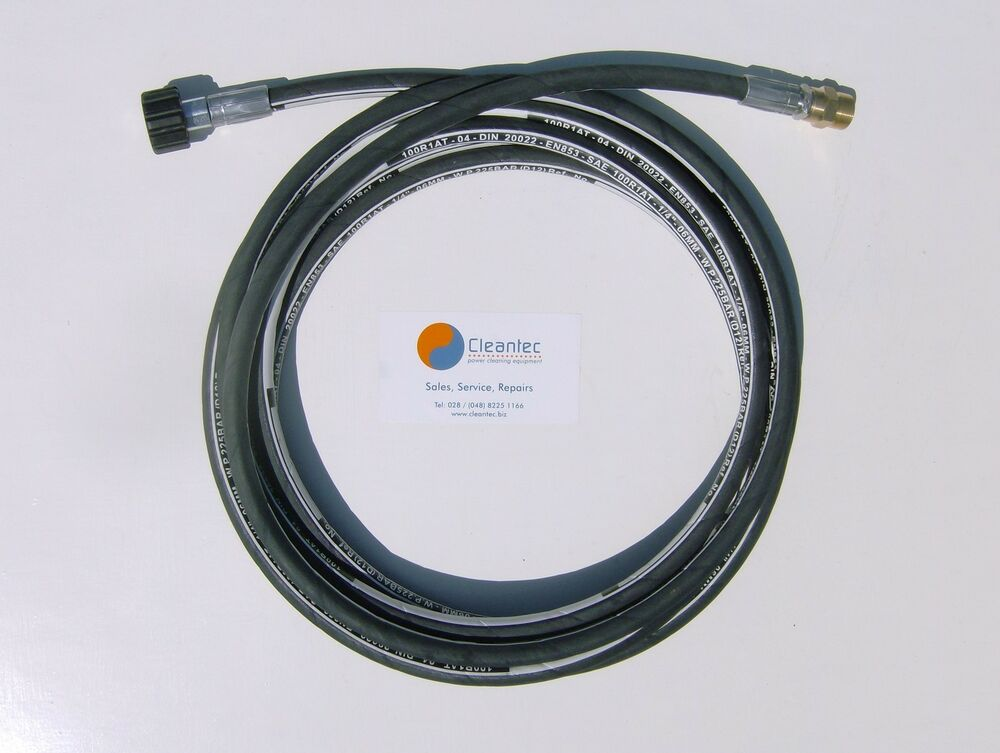 New 6 Metre Heavy Duty Pressure Washer Extension Hose For