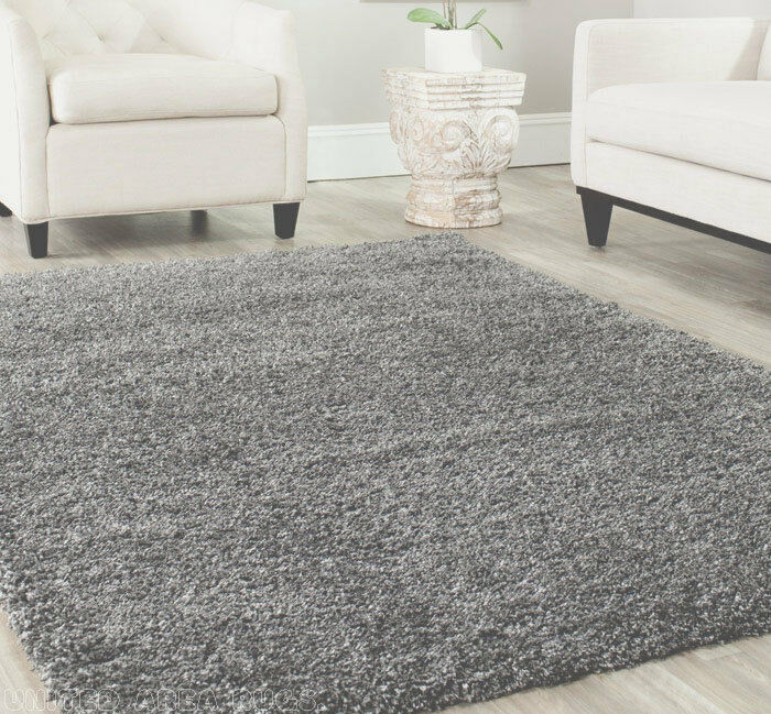 8x10 Area Rug Shaggy Shag Gray 2 Inch Plus Thick Amp Heavy