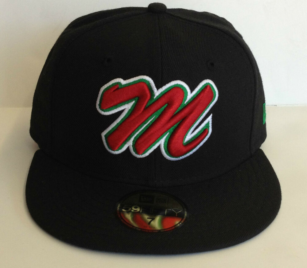 mexico baseball soccer new era fitted cap hat all blk