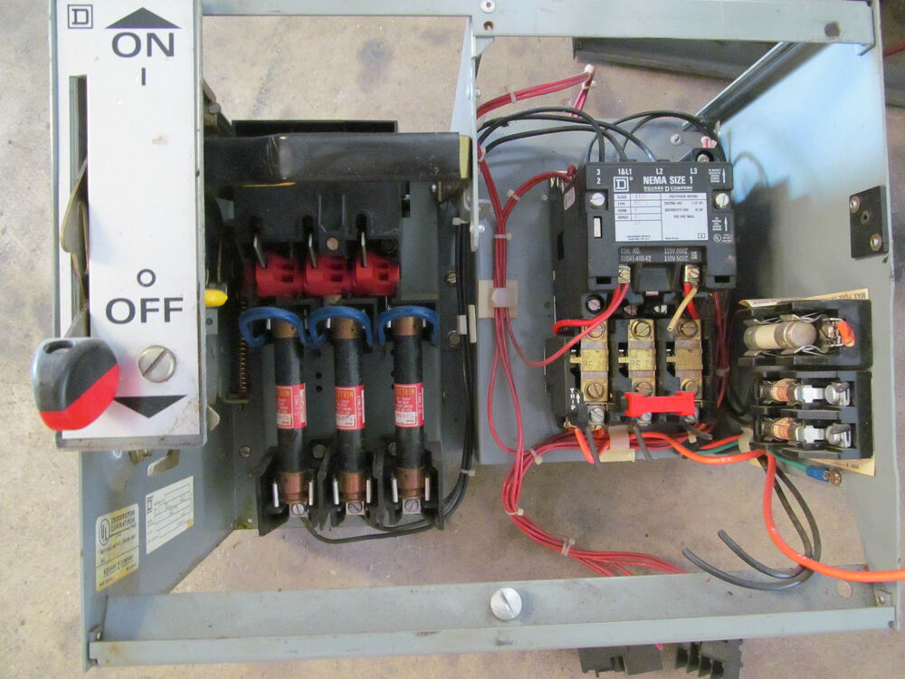 Square d model 5 fusible motor control bucket 12 nema for Square d motor switch