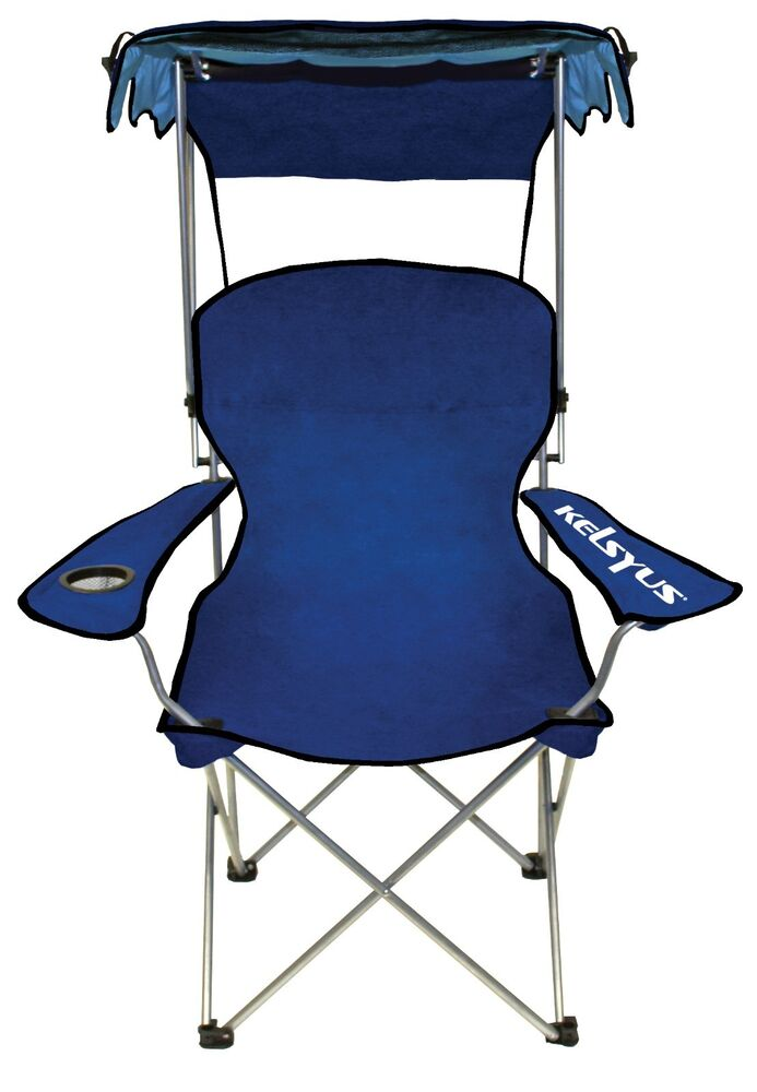Kelsyus Original Canopy Chair Shady Camping Folding Portable Convertible Blue