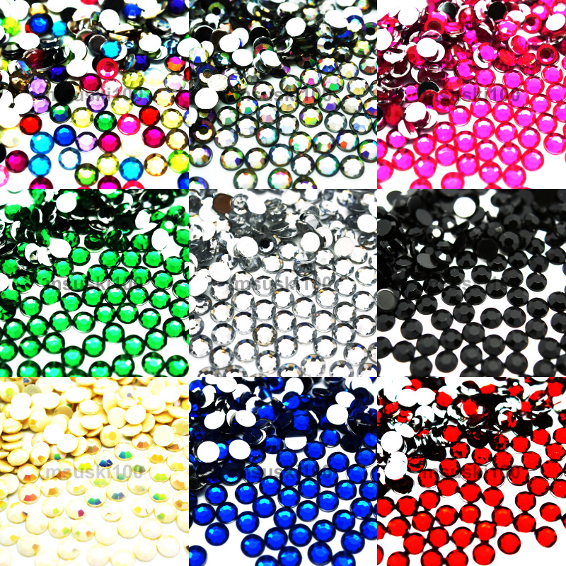 10mm rhinestones gems acrylic crystals flatback diamante for Plastic gems for crafts