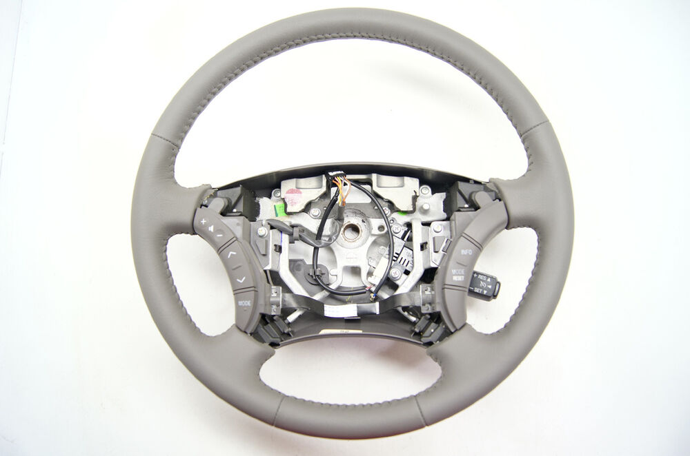2005 2006 toyota camry grey leather steering wheel w audio cruise controls ebay. Black Bedroom Furniture Sets. Home Design Ideas