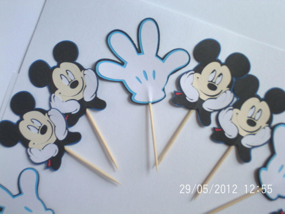 Mickey Mouse Cupcake Toppers Birthday Party Decorations