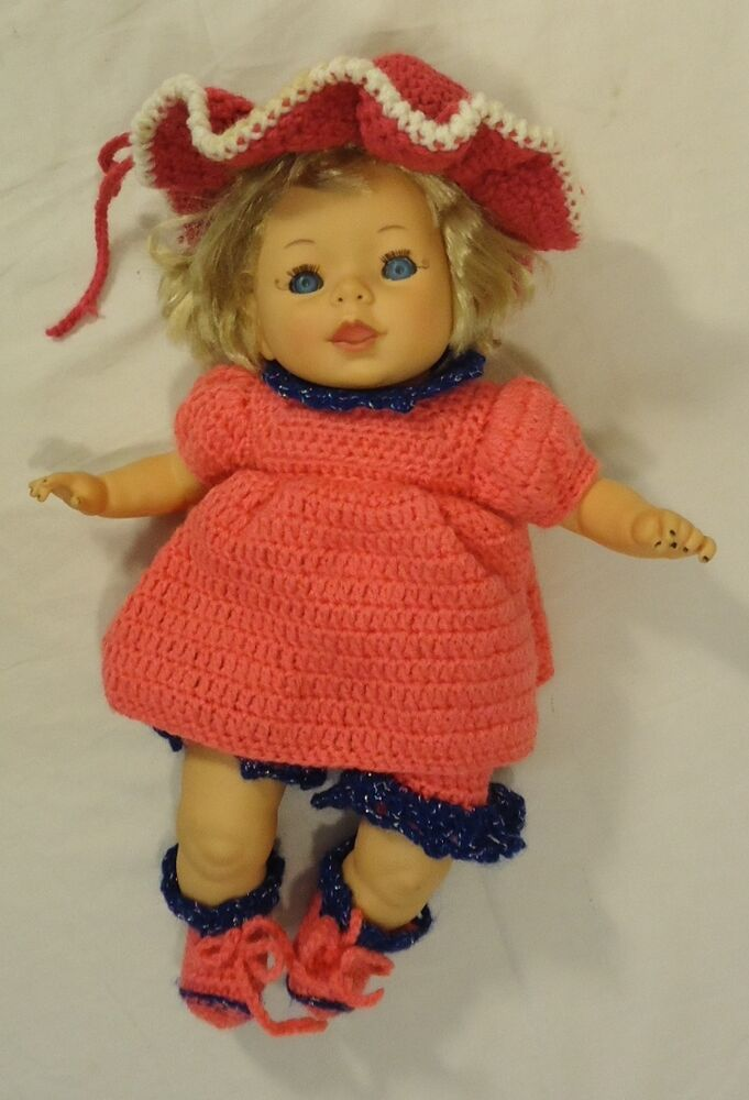Cititoy Tc10b Baby Doll With Crochet Outfit Plastic