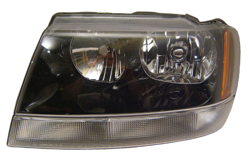new replacement smoke headlight assembly lh for 2002 04 jeep grand cherokee ebay. Black Bedroom Furniture Sets. Home Design Ideas