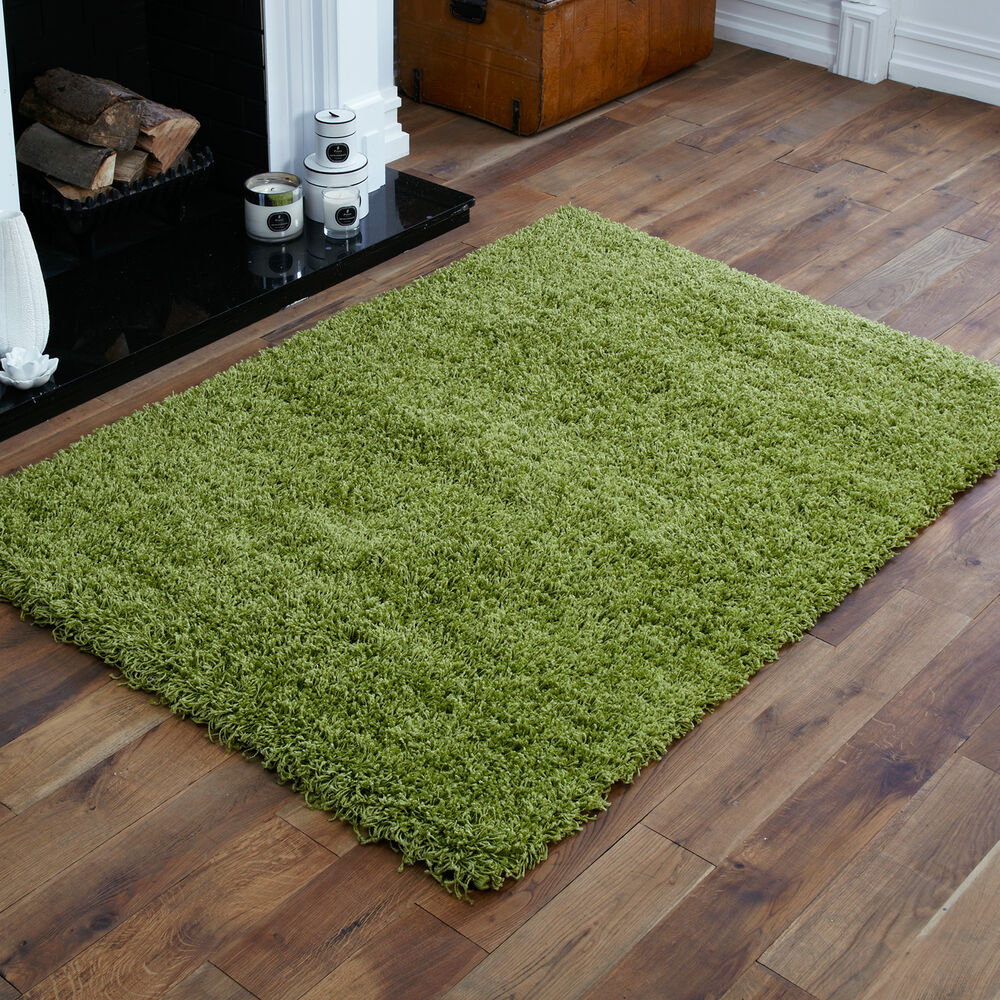 Lime Green Rugs For Kitchen: EXTRA LARGE THICK 5CM HIGH PILE LIME GREEN NON