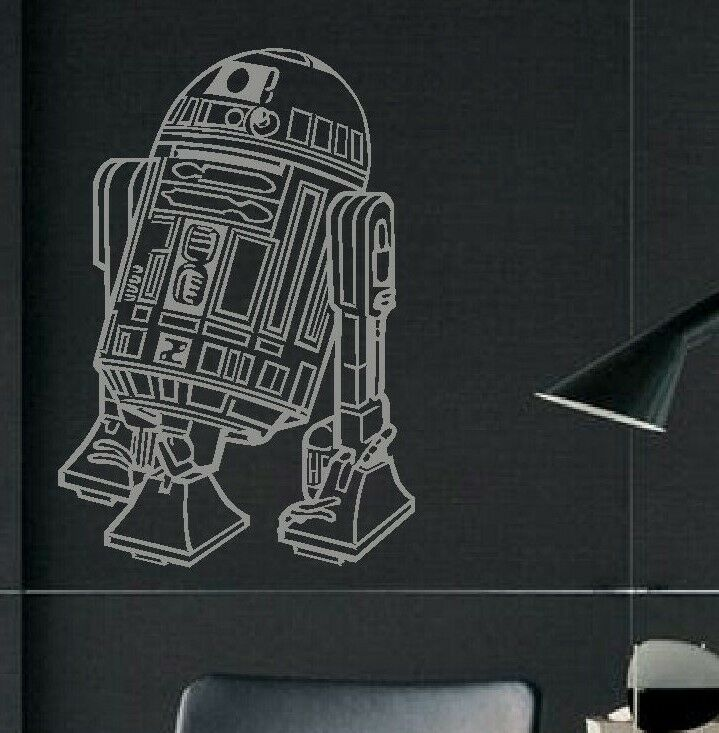 large star wars r2d2 childrens bedroom wall art mural