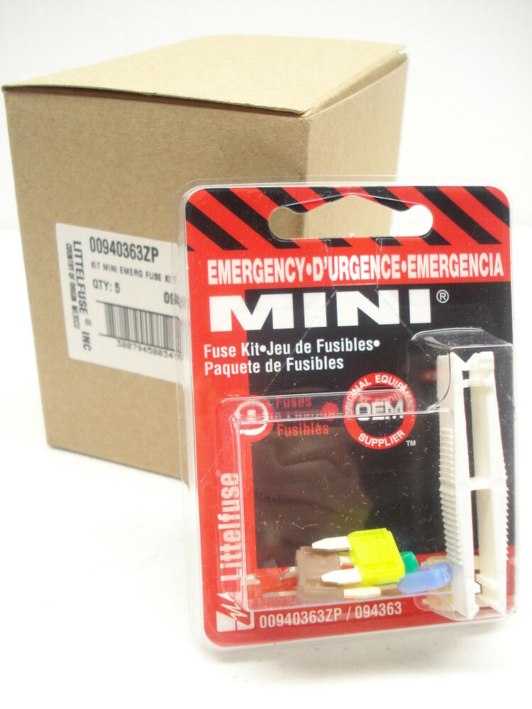 Box of littelfuse mini emergency fuse kit zp