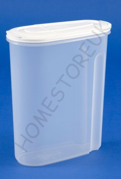 whitefurze medium large dry food storer plastic storage