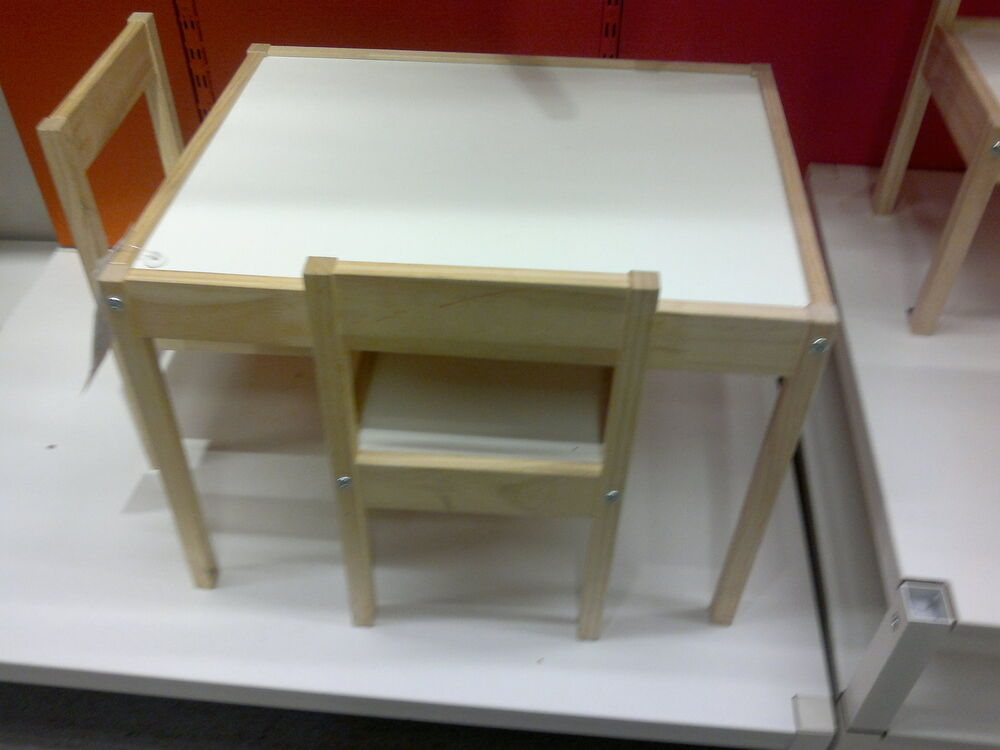 ikea latt wood childrens table and chairs new boxed ebay