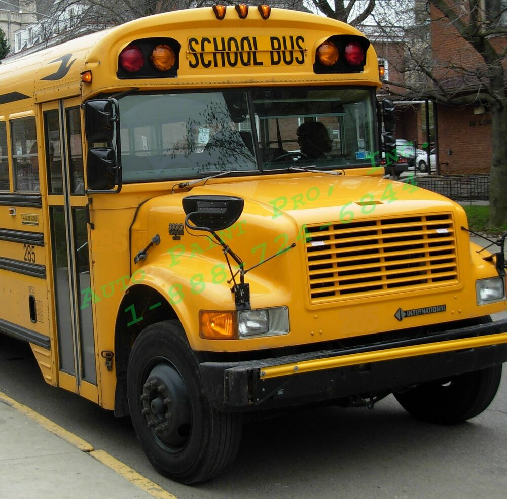 school bus yellow acrylic enamel single stage auto body