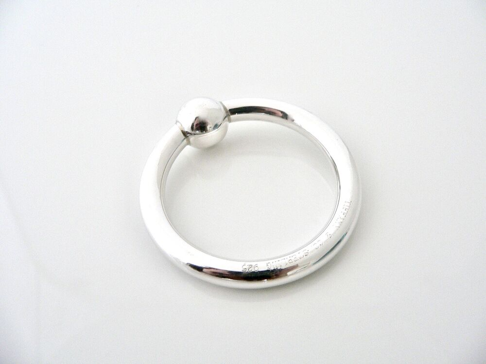 tiffany co sterling silver circle baby rattle teether