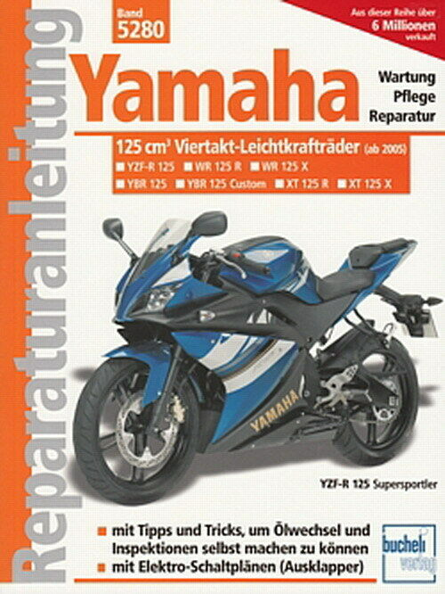 yamaha 125 yzf r wr 125 r x ybr xt reparaturanleitung. Black Bedroom Furniture Sets. Home Design Ideas