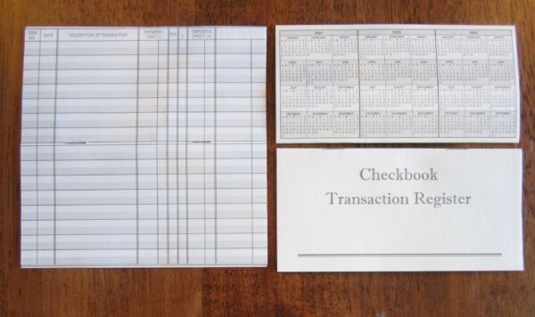 10 CHECKBOOK TRANSACTION REGISTERS  CALENDAR 2019 2020 2021 CHECK BOOK REGISTER
