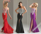 Strapless Sheath Evening/Prom dress/Ball/Formal gown/SZ 6 8 10 12 14/Corset Back