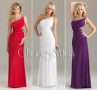 Sheath Beaded One-shoulder Evening/Formal gown/Party/Prom dress/SZ 6-8-10-12-14