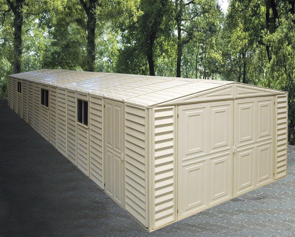 duramax sheds 10 5 39 x 31 39 vinyl storage garage shed w foundation kit 01616 ebay. Black Bedroom Furniture Sets. Home Design Ideas