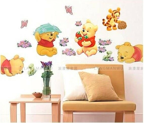 Winnie the pooh nursery room wall decal decor stickers for for Baby room sticker decoration