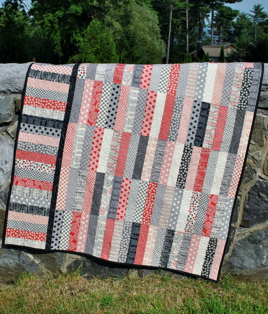 Quilt Pattern Jelly Roll Or Fat Quarters Strip Quilt