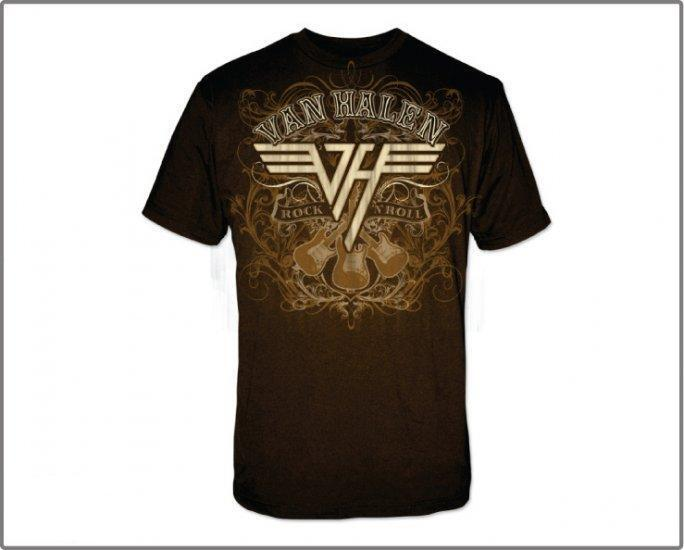 van halen rock n roll t shirt new ebay. Black Bedroom Furniture Sets. Home Design Ideas