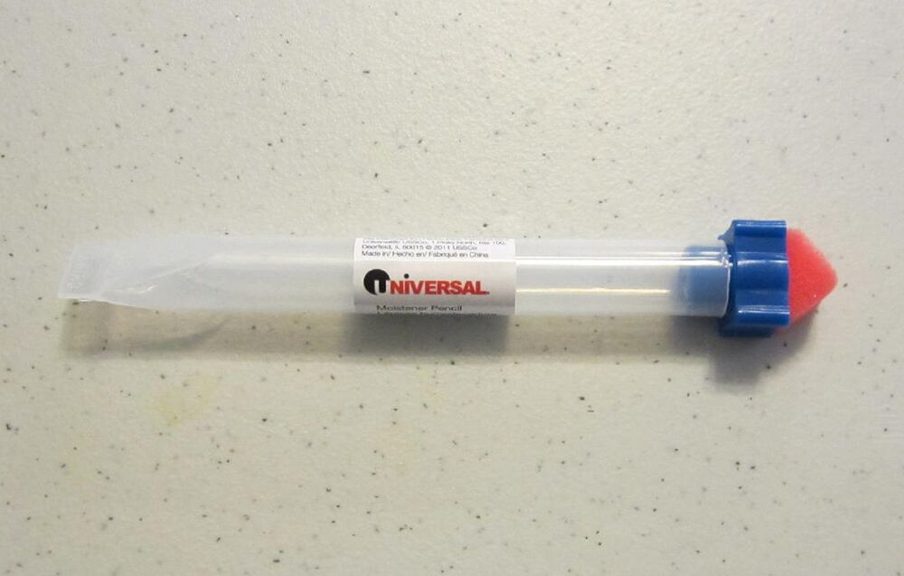 1 new universal envelope moistener letter sealer pencil with sponge tip licker ebay