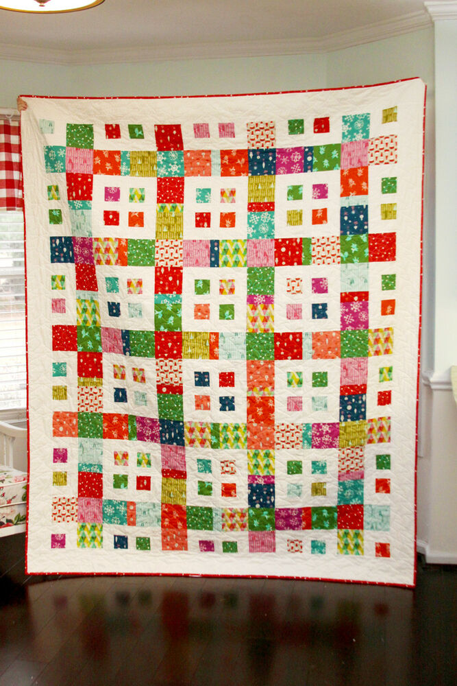 Simple Quilt Patterns Using Squares : QUILT PATTERN Layer Cake, Charm Squares or Fat Quarters QUICK and Easy eBay