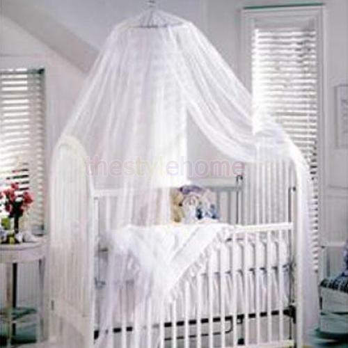 Baby Canopy For Crib: White Princess Mosquito Toddler Nursery Baby Bed Crib