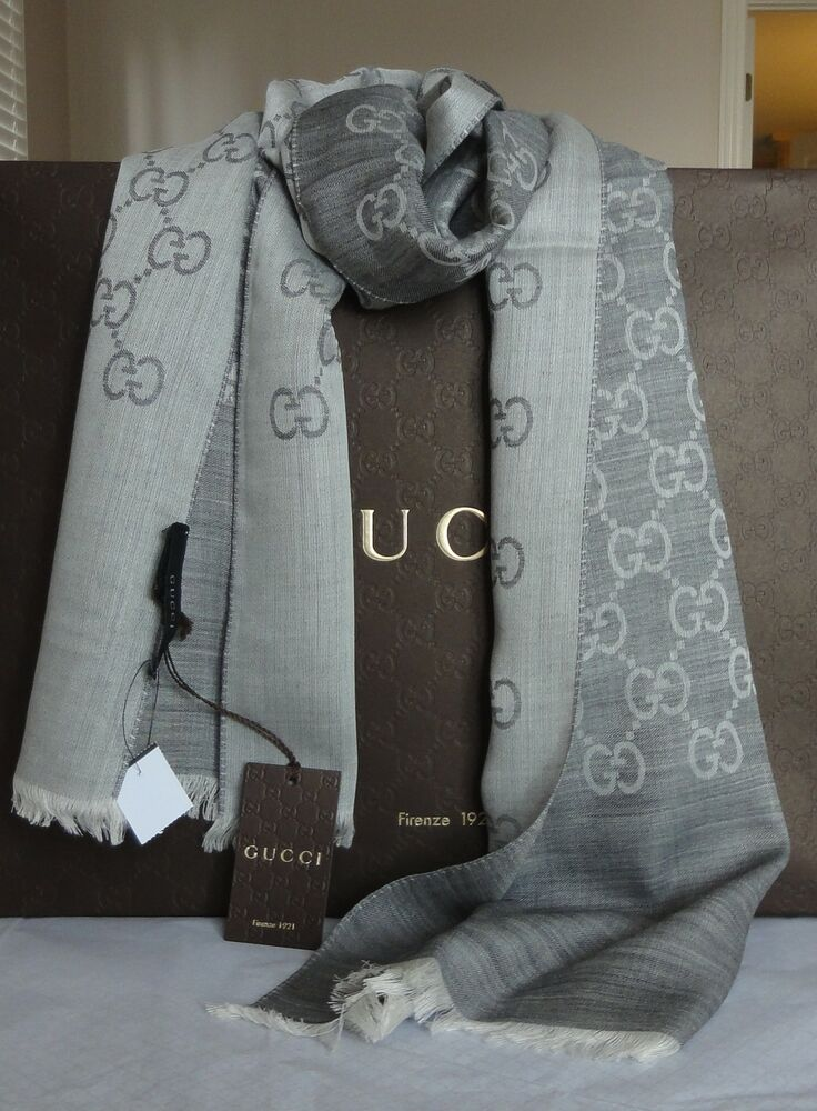 bd6f5e5166c Authentic New w Tag GUCCI Wool   Silk Scarf Unisex
