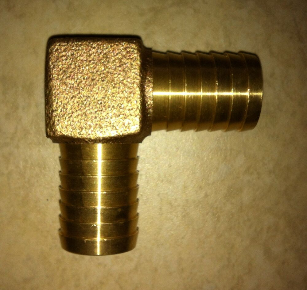 Quot barb brass water well pump poly pipe barbed insert